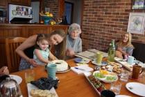 Three generations of Catherine McKenzie's descendants