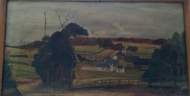 An oil painting of Old Bulli believed to date from the early 18070's held in the family of Mary Ann Hics descendants.