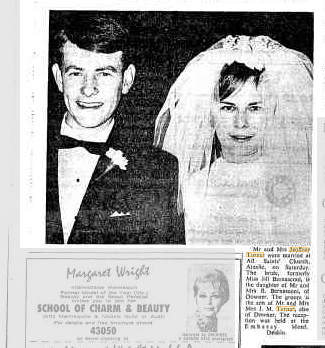 Jeoffrey Turner Bernsconi marriage 1969 Canberra Times 9.6.1969